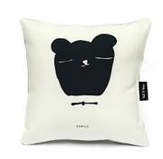 Ted&Tone Kussen, beer, zwart/wit (klein)