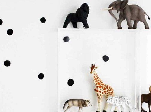 Wee gallery Stickers, weecals, black dots