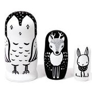 Wee gallery Nesting dolls, woodland