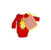 Coq en pâte Gift set Body long sleeves & bib, giraffe