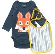 Coq en pâte Gift set Body long sleeves & bib, fox