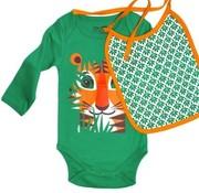Coq en pâte Gift set Body long sleeves & bib, tiger