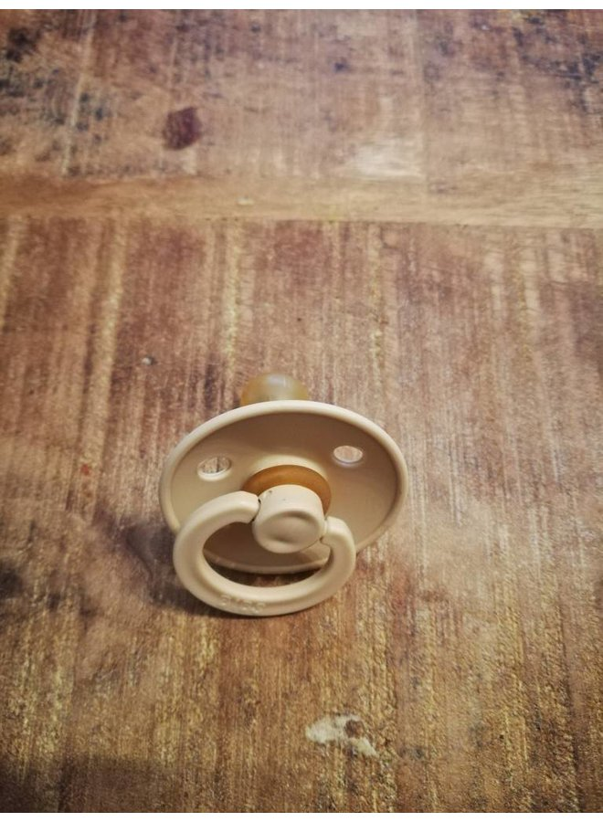 Pacifier, bibs, natural rubber, 6-18m