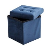 Kid's concept Poef & opbergbox, velvet blauw