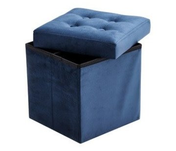Kid's concept Storage box, velvet blue