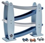 Kid's concept Car race track, blue