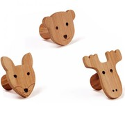 Kid's concept Clothes hooks, bamboo 3pcs