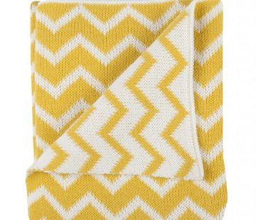 Plum Plum Knit blanket baby bed yellow metrics