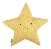 Plum Plum Cushion, star, yellow metrics