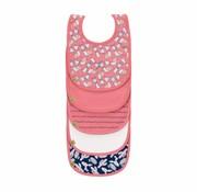Lassig Valuepack  set of 5 bibs Lama pink