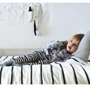 Childhome Donsovertrek, junior, 200*140, blauwe streep