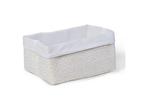 Childhome Storage basket, gold dots, 40*30*20
