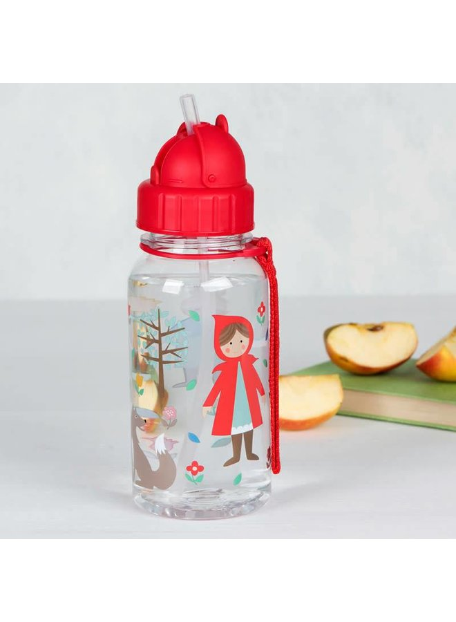 Water bottle, red riding hood