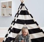 Kid's concept Tipi, zwart/wit