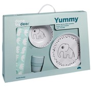 Done by Deer Gift tableware set,  Dots Yummy, blue
