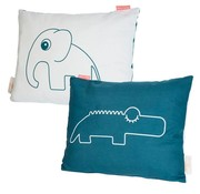 Done by Deer Cushion elephant and crocodile blue