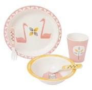 Fresk Tableware set bamboo Swan