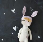 Miniroom.se Kanindocka doll, snow white