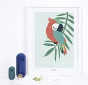 Lilipinso Frame poster with parrot