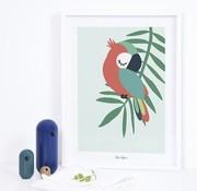 Lilipinso Kader met poster papegaai