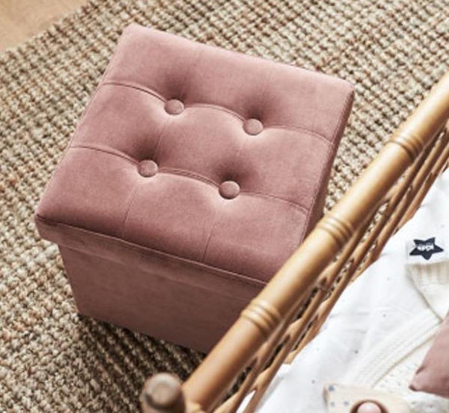 Storage box corduroy pink