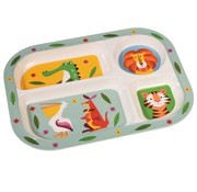 Rex London Divider plate, colorful creatures