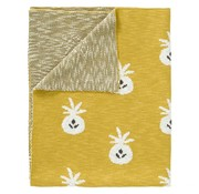 Fresk Knitted  blanket pineapple mustard 100*150 cm