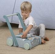 Little Dutch Wooden blocks cart blue