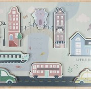 Little Dutch Houten puzzel stad