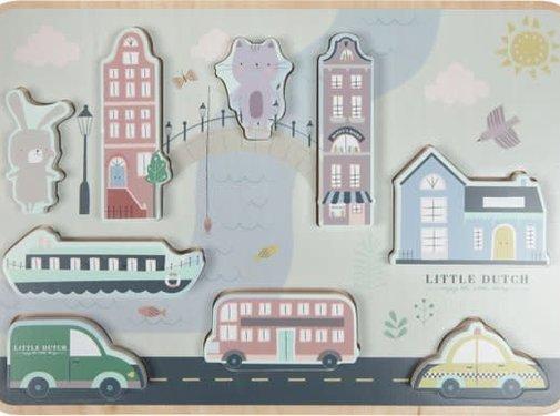 Little Dutch Wooden puzzle city