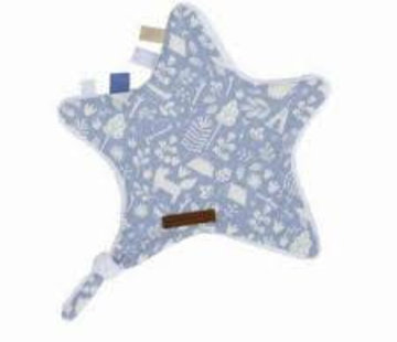 Little Dutch Cuddle blanket star blue