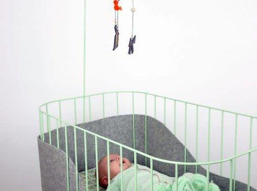 &ME Design Wieg-Munt/grijs-&me