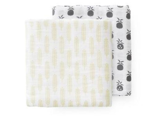Fresk Swaddle set 2 pieces pineapple havre