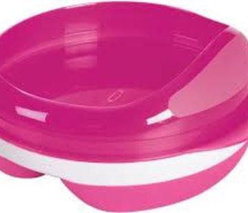 oxotot Voedingsbord met 2 vakjes pink