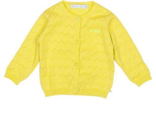 Blablabla Vest, gebreid geel