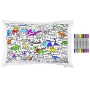 eat sleep doodle Pillow case, dino