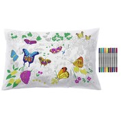 eat sleep doodle Pillow case, butterflies