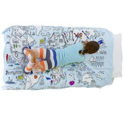 eat sleep doodle Duvet cover doodle, world map