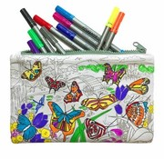 eat sleep doodle Pencil case, butterfly, doodle