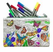 eat sleep doodle Pennezak, doodle, vlinder