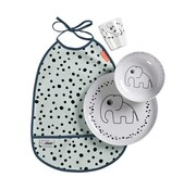 Done by Deer Copy of Eetset Dots Yummy, blauw
