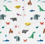 snurk Snurk bedlinnen paper zoo for single bed 140 x 220 cm