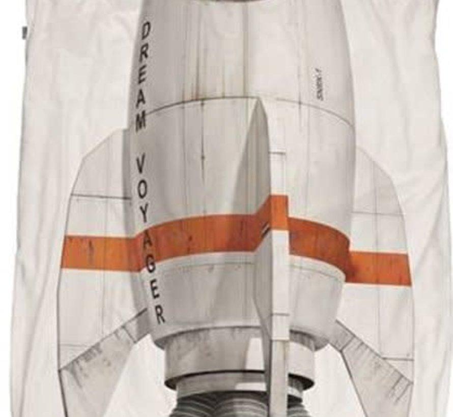 Snurk raket overtrek eenpersoonsbed 140 x 220 cm