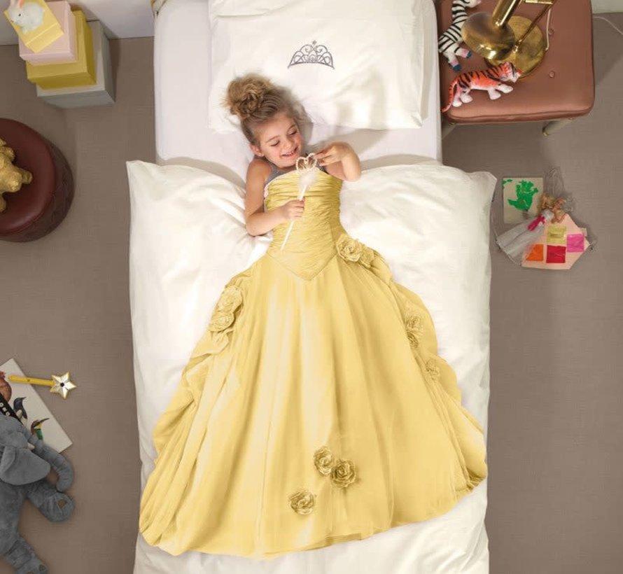 Snurk prinses overtrek eenpersoonsbed diverse kleuren 140 x 220 cm