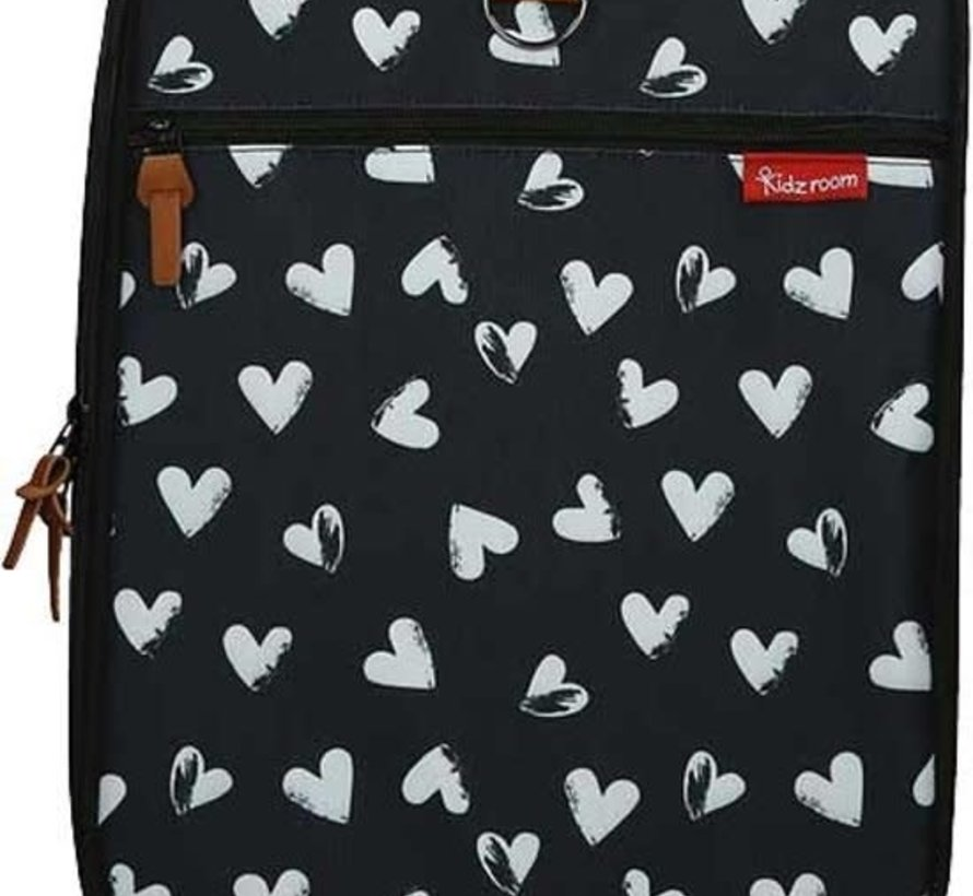 Trolley black & white hearts