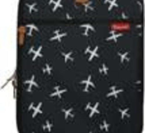 kidzroom Trolley zwart met witte vliegtuigen