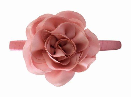 Milledeux Haarband Rose satin , kies je kleur