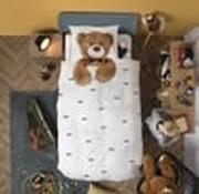 snurk Snurk Teddy overtrek eenpersoonsbed 140 x 220 cm