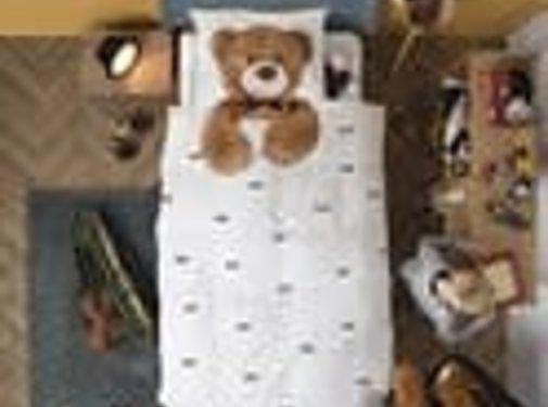 snurk Snurk Teddy  bedlinnen for single bed 140 x 220 cm