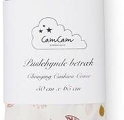 CamCam Copy of Waskussen met overtrek pressed leaves pink